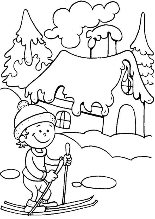 картинки разукрашки зимний пейзаж свастики