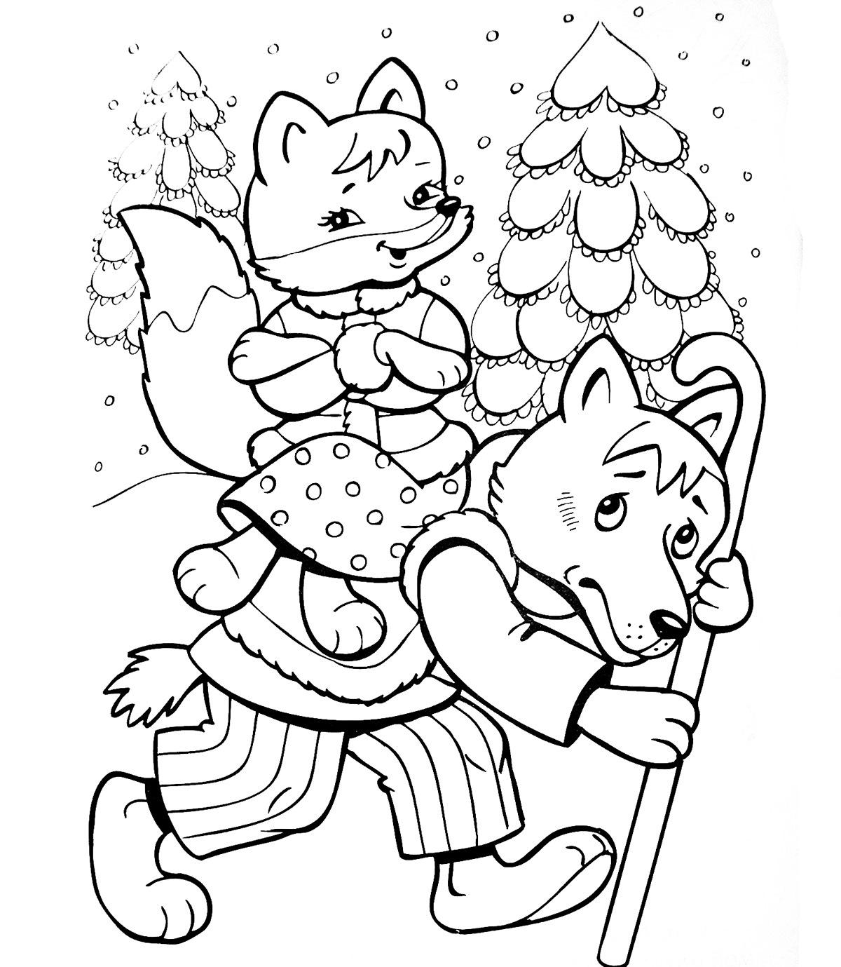 выбор рисунки животных из русских народных сказок одной них заметила